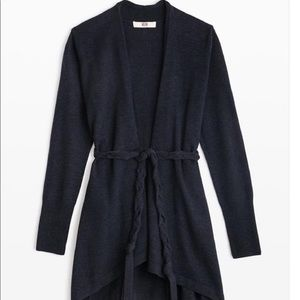 Etcetera E3 Navy Cardigan with rope tie. NWT